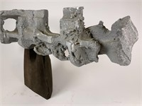 Concrete on Wood Abstract Sculpture