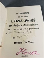 WWII German DRL award & bronze leaf