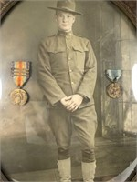WWI US Army New York Soldier Portrait and Medals
