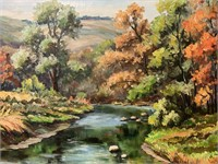 Clarence Dreisbach oil on canvas painting