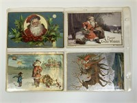 32 Antique Santa postcards