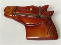 Bakelite Horse head pin