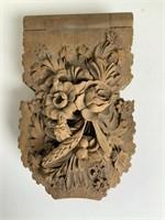 Victorian carved wood pocket watch safe