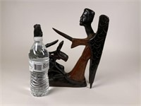 Figural carved wood statue