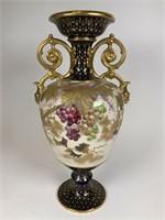 Old Hall gilt cobalt blue English cabinet vase