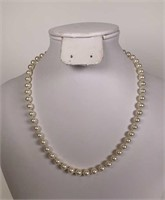 Cultured Pearl necklace W/ silver clasp