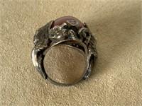 Sterling Angel & dragon ring