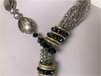 Contemporary Faceted Crystal beaded necklace