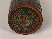 Waterman's  traveling ink bottle wooden case