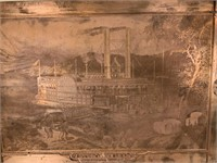 Black Americana Loading Cotton Print Plate