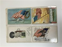 Antique Patriotic postcard lot