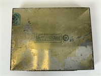 Vintage Sterling cigarette case, lighter & tins