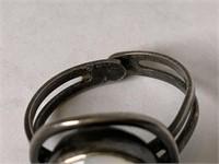 Sterling rings W/ moonstone & agate