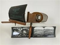 Antique Stereoscope & Stereoscopic Cards