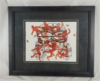 Framed Original Acrylic Art Signed Dorothy C. Baka