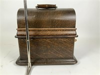 Antique Edison Phonograph Model E & horn