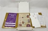 Trump Taj Mahal Hotel Menu Stationery Folder