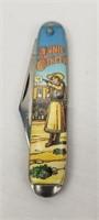Annie Oakley Novelty Pocket Knife Comic Handle