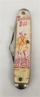 Buffalo Bill Novelty Pocket Knife Comic Handle