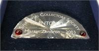 2 Swarovski Crystal Collectors Society Name Plaque
