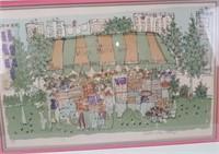 Susan Pear Meisel Signed Print Village Market West