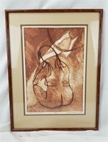 Carol M Hershey Double Vision Mixed Art Framed