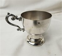 Large Silver Plate Bowl & Cups Crown Stamp