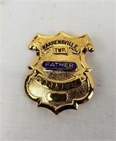 2 Mini Police Badges Father Daughter Ohio