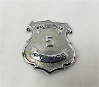 Walton Hills Police Badge #5 Ohio