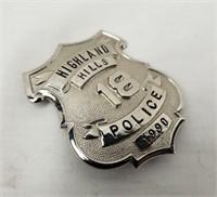 Highland Hills Police Badge #18 1990 Ohio