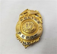 Perry New York Police Badge