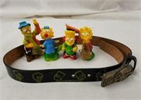 1990'S Simpsons Kids Belt & Figures