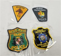Lot Of Police Patches Ohio New York Kansas