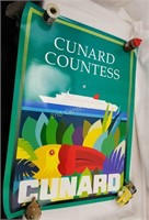 Posters Cruise Lines Cunard & Cleve Grad Prix Cups