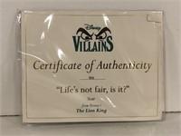 """WDCC """"Life's not fair, is it?"""" Disney Villains+box"""