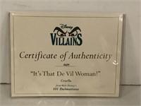 """WDCC """"It's That De Vil Woman!"""" Disney Villains"""