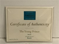 """WDCC """"The Young Prince"""" Bambi, Comes w/ Box and"""