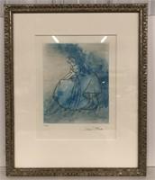 Cinderella Aqua Fine Art Etching Edition 12/500,