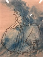 Cinderella Aqua Fine Art Etching Edition 12/500,
