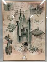 Walt Disney's Cinderella 50th Anniversary Framed