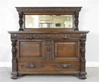 Late 19th century oak sideboard