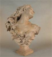 Jean Baptiste Carpeaux fine bust, dated 1874