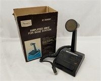 "Sears Amplified ""mike"" Base Station Microphone Mic"