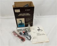 """Sears Amplified """"mike"""" Base Station Microphone Mic"""