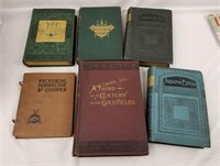 Lot Of Antique Books Ferguson East Lynne Whittier