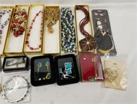 Costume Jewelry Lot Necklaces & More