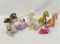 Collectible Ceramics Lot Poodles Giraffe