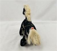 Vintage Plush Stuffed Horse Black & White