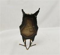 Metal Folk Art Statue Owl