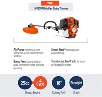 """324L 4-Cycle 18"""" Cutting Path Gas String Trimmer"""
